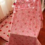 Strawberry Pink ผ้าห่มสีสันสดใส