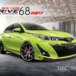 ชุดแต่ง New Yaris 2018 รุ่น Drive68 ชุด5ชิ้น (พร้อมสปอยเลอร์บนท้าย)