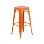 เก้าอี้สตูลสูงเหล็ก สีส้ม สวยแซ่บบบ โดดเด่น สะดุดตา