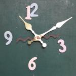 ชุดตัวเครื่องนาฬิกาญื่ปุนเดินเรียบ เข็มลายโมเดิน ขนาดใหญ่ เข็มสั้น-เข็มยาวสีทอง เข็มวินาทีสีแดง อุปกรณ์ DIY