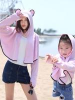 เสื้อคลุม แจ็คแก็ต ของผู้ใหญ่และเด็ก เสื้อกันแดดป้องกันรังสี UV มีฮู้ด ซิปหน้าปิดถึงจมูก มี 4 สี คือ ขาว ชมพู ฟ้าและเขียว