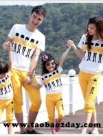 เสื้อครอบครัว ชุดครอบครัว เสื้อ+กางเกง