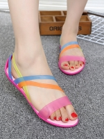 รองเท้าแฟชั่นผู้หญิงเพื่อสุขภาพ สำหรับใส่ไปเที่ยวชายทะเล หรือใส่ลำลองทั่วๆไป สวมใส่สบายพื้นหนุ่ม เดินนานไม่เมื่อยค่ะ