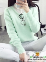 เสื้อผ้าแฟชั่นฤดูหนาว เสื้อกันหนาว สไตล์พร็อพ มีให้เลือกหลายสีค่ะ