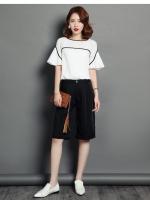 ชุดเซ็ทเสื้อ+กางเกง งานสไตล์เกาหลี เนื้อผ้าดีสวมใส่สะบาย งานนำเข้าแบรนด์แท้คุณภาพดี