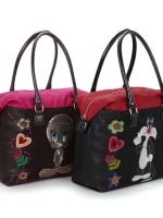 KEMIO BAG กระเป๋าถือพร้อมสายสะพาย ตกแต่งตัดเย็บล้ำสมัย สไตล์ 3D ( Tweety and Sylvester )