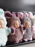 พวงกุญแจตุ๊กตา Sleeping Baby ไซด์ 10ซม. ในชุดหมีและกระต่ายค่ะ