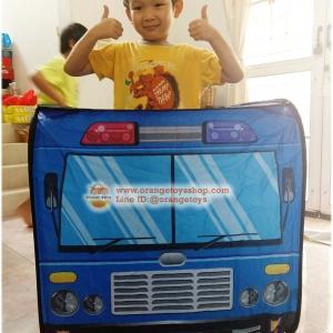 เต็นท์ รถตำรวจ สีน้ำเงิน/ฟ้า พร้อมลูกบอล 50 ลูก **Police Car design Play House with Ball 50