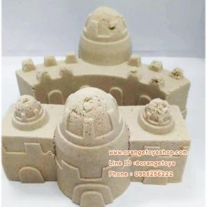 (น้ำหนัก 10 กิโลกรัม) ทรายวิทยาศาสตร์ สีธรรมชาติ Soft sand ทรายนิ่ม + ชุดแม่พิมพ์เล่นทราย 1 ชุด