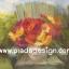 กระดาษสาพิมพ์ลาย สำหรับทำงาน เดคูพาจ Decoupage แนวภาำพ บ้านและสวน ดอกเยียบีร่าสีสด ในแจกันตั้งอยู่บนเก้าอี้ไม้ เป็นภาพแนวภาพวาดสีฟุ้งๆ (ปลาดาวดีไซน์) thumbnail 1