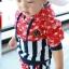 ชุดแฟชั่นเด็ก 2 ชิ้น เสื้อ + กางเกง ตกแต่งด้วยลายธงชาติสหรัฐ น่ารัก สไตล์เกาหลี ผ้าหนาค่ะ สำเนา thumbnail 2
