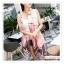 PR162 ผ้าพันคอแฟชั่น ผ้าชีฟอง พิมพ์ลายสวย ขนาด ยาว 180 กว้าง 90 cm. thumbnail 4