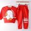 Huanshu kids ชุดเซ็ทเด็ก เสื้อแขนยาวคอกลม + กางเกงขายาว สไตล์เกาหลี (110,120) thumbnail 4