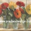 กระดาษสาพิมพ์ลาย สำหรับทำงาน เดคูพาจ Decoupage แนวภาำพ บ้านและสวน ดอกเยียบีร่า 3สี แดง ส้มเหลือง ปักในแจกันแก้วใส เป็นภาพแนวภาพวาด (ปลาดาวดีไซน์) thumbnail 1