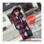 PR159 ผ้าพันคอแฟชั่น ผ้าไหมพรม พิมพ์ลายสวย ขนาด ยาว 190 กว้าง 65 cm. thumbnail 2