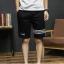 SP0037 กางเกงขาสั้นแฟชั่นเกาหลี สีดำ คาดขาว thumbnail 3