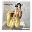 PR146 ผ้าพันคอแฟชั่น ผ้าฝ้าย พิมพ์ลายสวย สีเหลือง ขนาด ยาว 190 กว้าง 90 cm. thumbnail 3