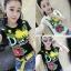 เสื้อคอกลมแขนสั้น ปักเลื่อมลายดอกไม้ สไตล์ 3D มี 2 สีคือ ขาวและดำค่ะ thumbnail 1