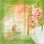 แนวภาพย้อนยุค ภาพเงาหนุ่มสาวในสวน แต่งขอบภาพโทนสีเขียว เป็นภาพแนวยาว กระดาษแนพกิ้นสำหรับทำงาน เดคูพาจ Decoupage Paper Napkins ขนาด 33X33cm thumbnail 1