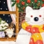 กระดาษสาพิมพ์ลาย สำหรับทำงาน เดคูพาจ Decoupage แนวภาพ แมวน้อยในบ้านแอบมองตุ๊กตาหิมะแมวใหญ่นอกบ้าน thumbnail 1