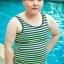 ชุดว่ายน้ำทอม Janest ลายแถบเขียว S-6XL [Pre-Order] thumbnail 5
