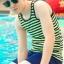 ชุดว่ายน้ำทอม Janest ลายแถบเขียว S-6XL [Pre-Order] thumbnail 3