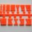 ชุดตัวเลขสำหรับประกอบนาฬิกา ตัวเลขโรมัน สีส้ม ตัวเลขสูง 10มม. อุปกรณ์ DIY thumbnail 1