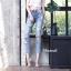 Ripped boyfriend jeans กางเกงยีนส์ทรงบอยเฟรน แต่งขาดเซอร์ ผ้ายีนส์เนื้อหนา(ไม่ยืด) สีฟอกสวยได้ลุคเซอร์ๆเท่ห์ๆ ต้องมีค่ะ thumbnail 2