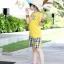 เสื้อยืด คอกลม สีเหลือง แขนสั้น มีลายอามด้านหลัง น่ารัก สไตล์เกาหลีค่ะ thumbnail 4