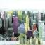 แนวภาพท่องเที่ยว เมืองนิวยอร์ค ภาพแนวกราฟฟิคย้อมสี เป็นภาพ 4 บล๊อค กระดาษแนพกิ้นสำหรับทำงาน เดคูพาจ Decoupage Paper Napkins ขนาด 33X33cm thumbnail 1