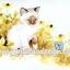 กระดาษสาพิมพ์ลาย สำหรับทำงาน เดคูพาจ Decoupage แนวภาำพ ลูกแมวน้อยตัวขาว หูน้ำตาล นั่งจ้องผีเสื้อสีฟ้าในทุ่งดอกไม้ thumbnail 1