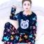 ชุดนอนแฟชั่น ชุดนอนคู่รักสีน้ำเงินลายการ์ตูนหมี thumbnail 5