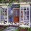 กระดาษสาพิมพ์ลาย สำหรับทำงาน เดคูพาจ Decoupage แนวภาำพ บ้านและสวน ด้านหน้าร้านขายเสื้อผ้าสไตล์ยุโรป ตกแต่งด้วยไม้เลื้อยล้อมรอบร้าน ร่มรื่นสุดๆ (ปลาดาวดีไซน์) thumbnail 1