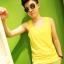 เสื้อกล้ามทอมเต็มตัว ยี่ห้อ Janest สีเหลือง รุ่นตะขอ(พรีออเดอร์) thumbnail 1