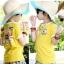 เสื้อยืด คอกลม สีเหลือง แขนสั้น มีลายอามด้านหลัง น่ารัก สไตล์เกาหลีค่ะ thumbnail 1