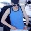 เสื้อกล้ามทอมเต็มตัว ยี่ห้อ Janest รุ่นตะขอ สีฟ้าขอบดำ(พรีออเดอร์) thumbnail 1