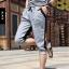 SP0029 กางเกงขาสั้น3ส่วน JOGGER GREY/ฺBLACK STRIPED thumbnail 1