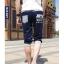 SP0027 กางเกงขาสั้น3ส่วน JOGGER GREY/ฺNAVY STRIPED thumbnail 3