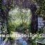 กระดาษสาพิมพ์ลาย สำหรับทำงาน เดคูพาจ Decoupage แนวภาำพ บ้านและสวน มองทะลุซุ้มหินโค้ง เป็นป่าต้นไม้(ปลาดาวดีไซน์) thumbnail 1