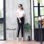 Trousers with side stripe กางเกงขายาวสีดำแต่งแถบข้างสีขาว เอวผูกเชือก ทรงสปอต สไตล์กางเกงzara ผ้าหนาเนื้อนุ่มอย่างดี ใส่สบายค่ะ thumbnail 1