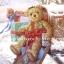 กระดาษสาพิมพ์ลาย rice paper เป็น กระดาษสา สำหรับทำงานฝีมือ เดคูพาจ Decoupage แนวภาพ คริสต์มาสปีนี้ เด็กคนไหนได้พี่หมี เท็ดดี้ แบร์ teddy bear ขนหยิกสีน้ำตาล ตัวใหญ่เป็นของขวัญที่ตู้ไปรษณีย์กันน๊า (pladao design) thumbnail 1