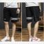 SP0037 กางเกงขาสั้นแฟชั่นเกาหลี สีดำ คาดขาว thumbnail 2