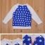 cisi เสื้อยืดเด็กคอกลมแขนยาว สี น้ำเงินลายดาว เก๋ น่ารัก สไตล์เกาหลี thumbnail 2