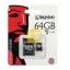 Micro SD 64GB Kingston (SDCX10V, Class 10) thumbnail 1