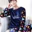 ชุดนอนแฟชั่น ชุดนอนคู่รักสีน้ำเงินลายการ์ตูนหมี thumbnail 4