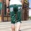 SP0028 กางเกงขาสั้น3ส่วน JOGGER GREY/GREEN STRIPED thumbnail 3