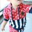 ชุดแฟชั่นเด็ก 2 ชิ้น เสื้อ + กางเกง ตกแต่งด้วยลายธงชาติสหรัฐ น่ารัก สไตล์เกาหลี ผ้าหนาค่ะ สำเนา thumbnail 1