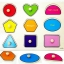 """ของเล่นไม้ จิ๊กซอว์ไม้แบบหมุดดึงจับคู่รูปภาพลายรูปทรง """"จิ๊กซอว์ไม้เสริมพัฒนาการเด็ก"""" thumbnail 1"""
