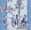 แนวภาพศิลปะ หนุ่มสาวเต้นรำ พร้อมลายแต่ง ภาพโทนสีฟ้าน้ำเงิน เป็นภาพ 4 บล๊อค กระดาษแนพกิ้นสำหรับทำงาน เดคูพาจ Decoupage Paper Napkins ขนาด 33X33cm thumbnail 1