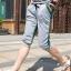SP0028 กางเกงขาสั้น3ส่วน JOGGER GREY/GREEN STRIPED thumbnail 2